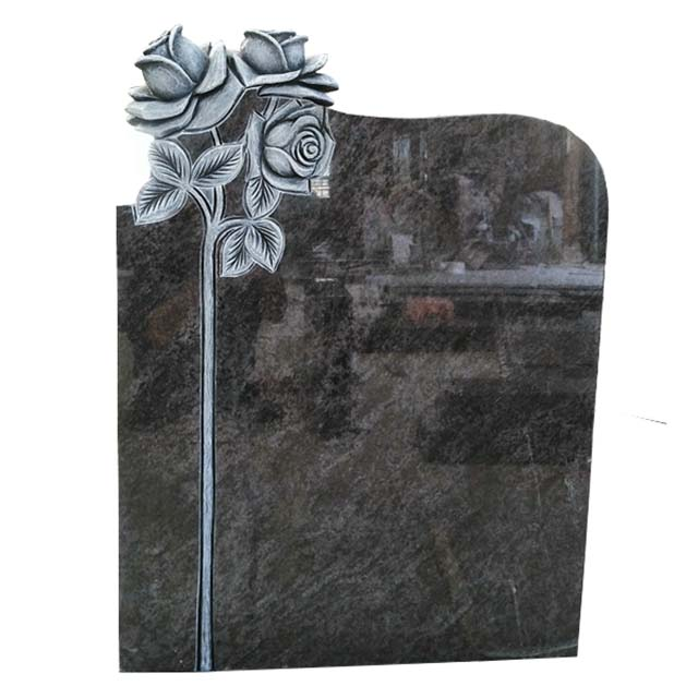 Flower Carving Granite Headstones