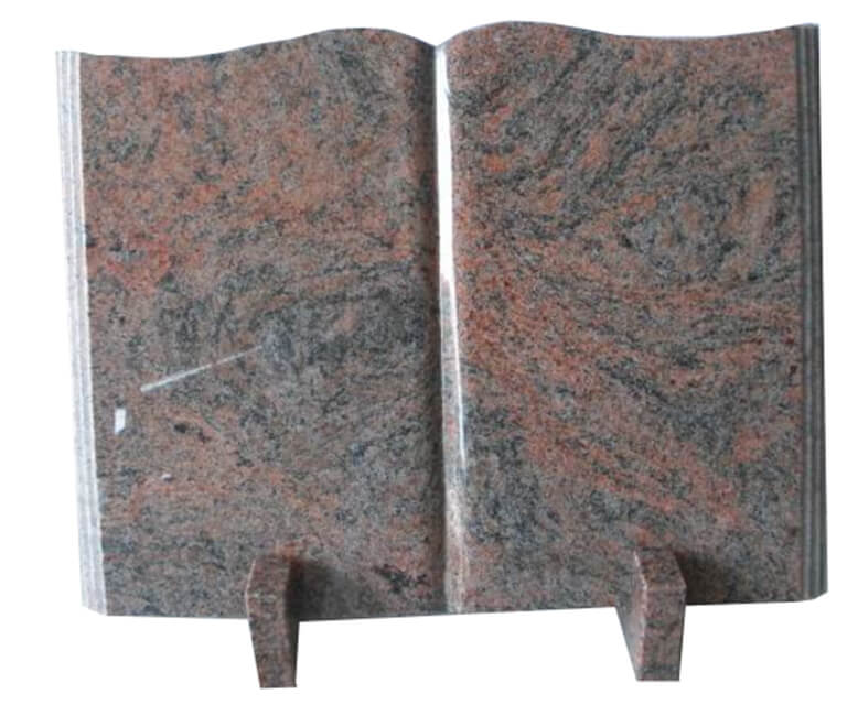 Chinese Granite Open Book Shape Headstones