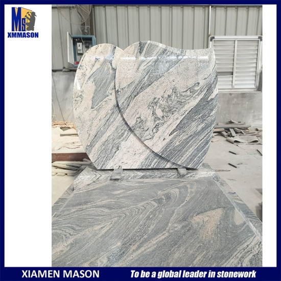 European Granite Mandalay China Juparana Tombstone