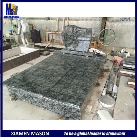 Olive Green Granite Tombstone