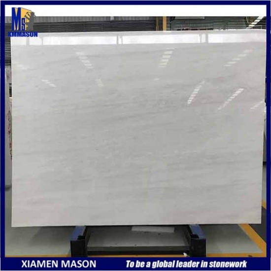 Polished White Marble Slab