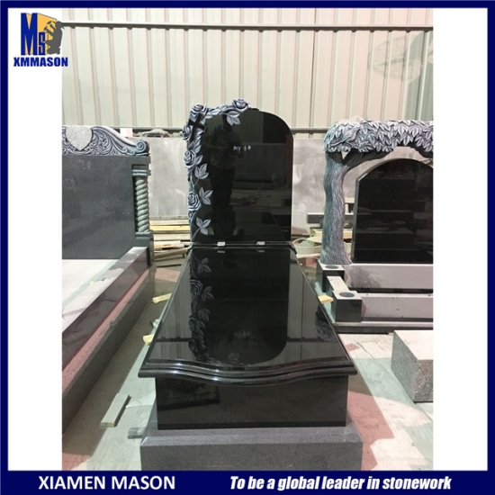 Absolute Black Granite Memorial Stone